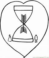 Hourglass Coloring Sand Pages Reloj Arena Template Sandglass Clocks sketch template