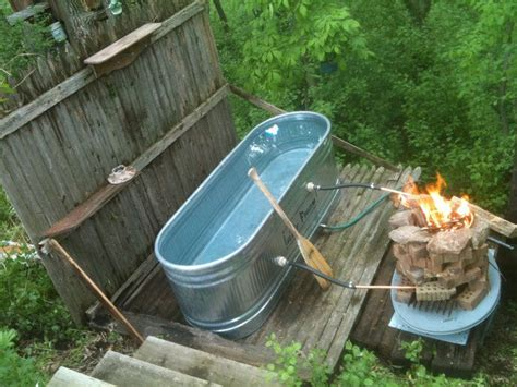 Backyard Tub by Outdoor Tub With System To Warm The Water