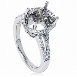 halo diamond engagement ring setting vintage semi mount With wedding ring setting