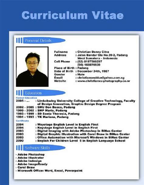 Curriculum Vitae Format by Cv Resume Resume Format Resume Sles Circum
