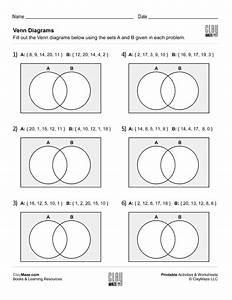 Fill In The Venn Diagrams  Set 1   U2013 Childrens Educational
