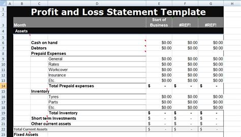 profit and loss statement template excel profit and loss statement template xls xlstemplates