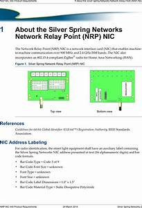 Itron Nic441 Nic Module For Network Relay Points User
