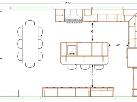 size of kitchen island with seating standard kitchen island size home design