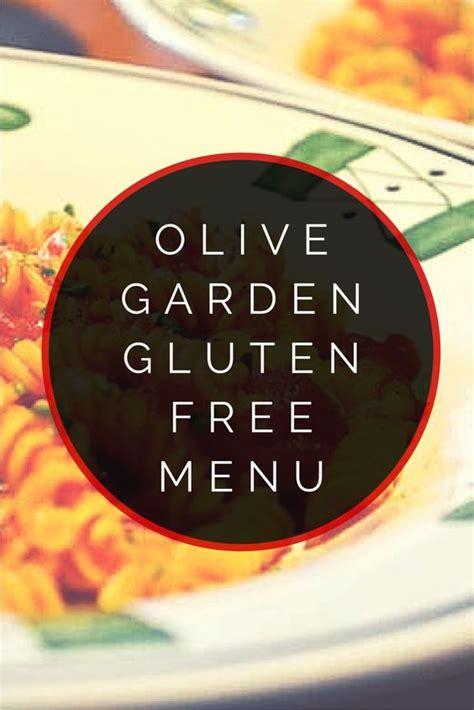 olive garden allergy menu olive garden gluten free menu gardens olives and