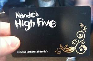 nando 39 s high five black card 10 things you need to