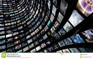 Video Wall With Many Small Monitors Stock Illustration