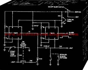 Simple Car Alarm Circuit Diagram Using 555 Timer