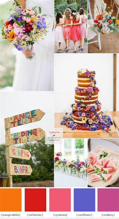 Bright Summer Wedding Colour Palettes Wedding Summer