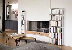 Bibliothèque Design Meuble : meuble biblioth que design 60 cm metal blanc 6 niveaux ~ Voncanada.com Idées de Décoration