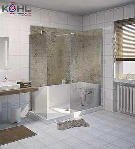 Fugenlose Wandverkleidung Bad : die schnelle badsanierung f r ihre fugenlose dusche ~ Frokenaadalensverden.com Haus und Dekorationen