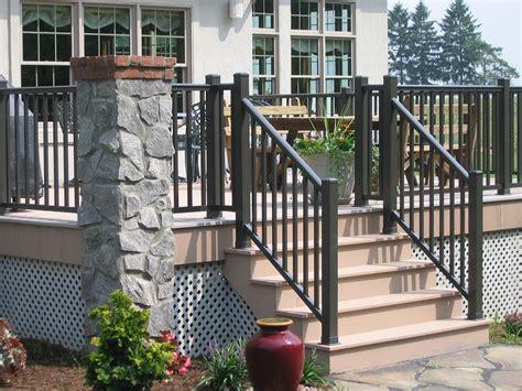 metal porch railing deck railing in aluminum and vinyl great models pricing