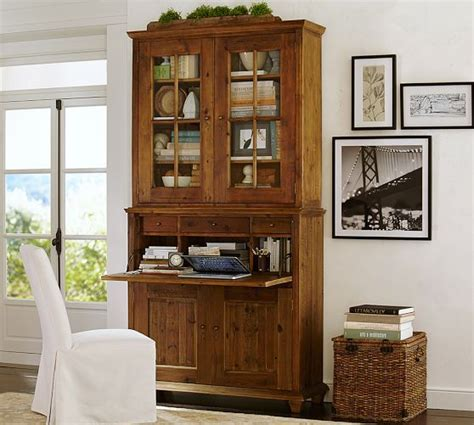 Desk With Hutch Pottery Barn by Roland Reclaimed Wood Desk Hutch
