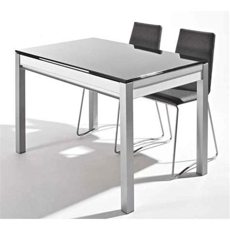 table de cuisine en verre avec rallonge table en verre avec tiroir et allonges dama