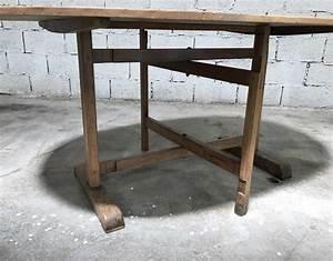 Table En Bois Massif Ancienne : ancienne table de vigneron ~ Teatrodelosmanantiales.com Idées de Décoration