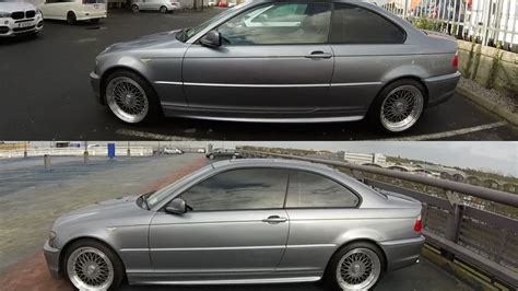 Getting Window Tint Bmw E46 Before And After Youtube