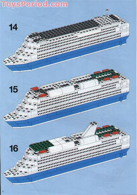LEGO 1955 Color Line Promotional Set Cruise Ship Set Parts Inventory And Instructions - LEGO ...