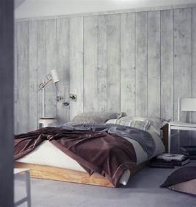 Tapete In Holzoptik 24 Effektvolle Wandgestaltungsideen