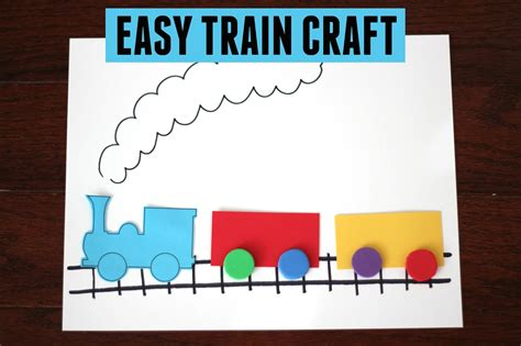 toddler approved easy craft for 737 | easy train craft for kids