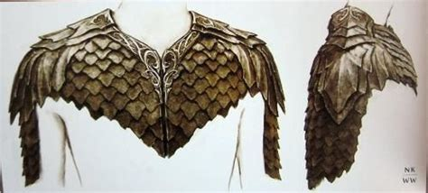 The Hobbit Dwarve Armor Template by The Hobbit Legolas Shoulder Leaf Armour Design