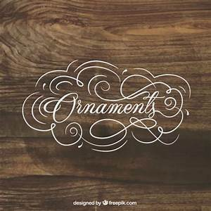 Ornaments lettering on wood background vector free download for Lettering on ornaments