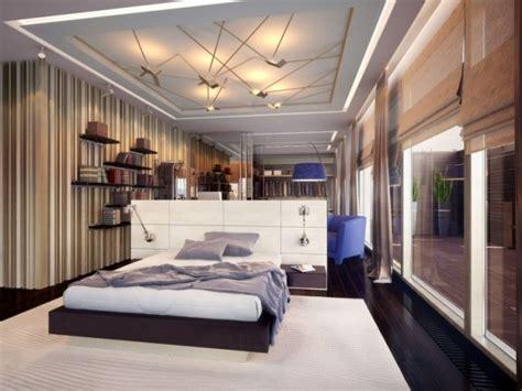 decoration de chambre a coucher pour adulte plafond contemporain plafond platre