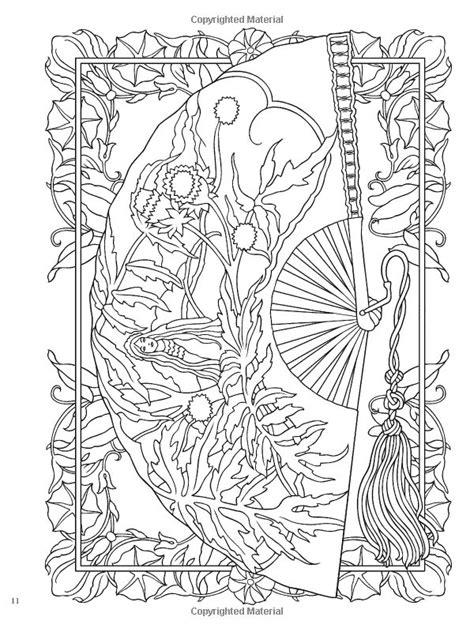 creative haven vintage hand fans coloring book creative