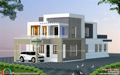 home designs 2300 sq ft house all side views kerala home design and