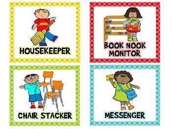 classroom jobs   editable classroom jobs
