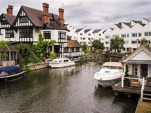 Luxury River Thames Houses stock photo. Image of river ...