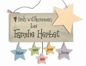 Türschilder Holz Familie : die besten 25 t rschild familie ideen auf pinterest ~ Lizthompson.info Haus und Dekorationen