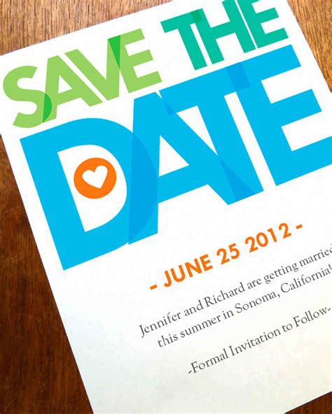 Modern Savethedates For A Contemporary Celebration