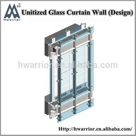 hwarrior new products glass curtain wall section buy