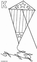 Kite Coloring Drawing Pages Printable Cool2bkids Getdrawings sketch template