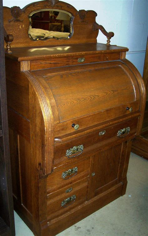 antique desks for sale solid oak cylinder roll top desk for sale antiques com