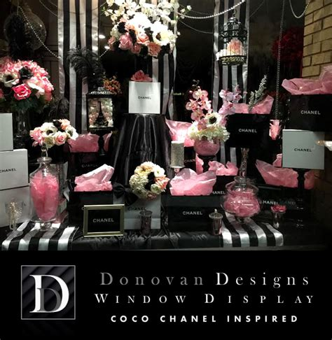 coco chanel wedding centerpieces window display floral