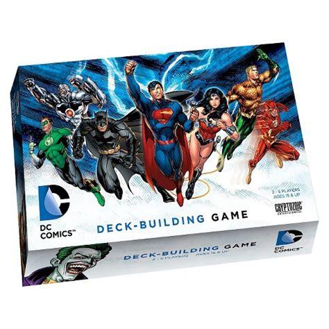 tcg deck builder management dc comics deck building card target