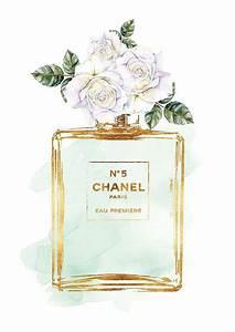 aquarelle de parfum vert avec aquarelle de roses blanches With affiche chambre bébé avec parfum fleur de corail