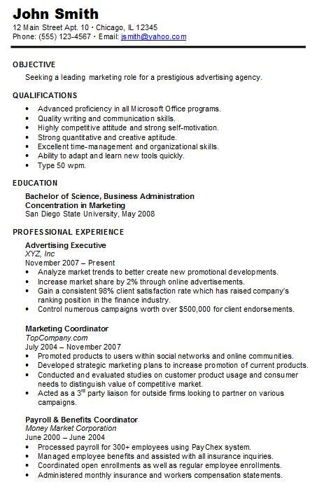 Chronological Resume About by Chronological Resume Underrepresented Familias