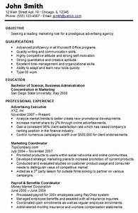 chronological resume resume cv template examples With how to make a chronological resume