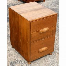 Mid Century Two Drawer Oak Filing Cabinet