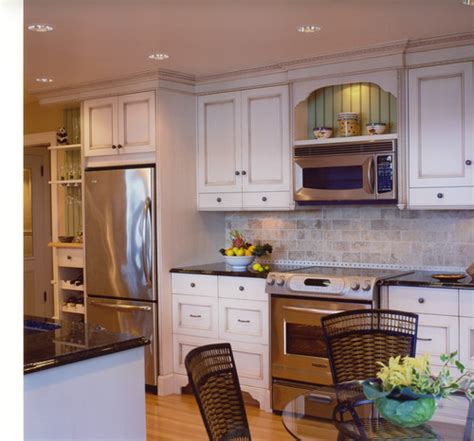 over the range microwave cabinet where do you place a microwave in a kitchen plan