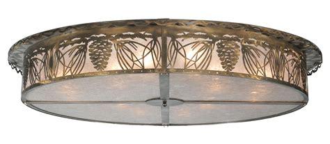 meyda 107572 mountain pine flush mount ceiling fixture