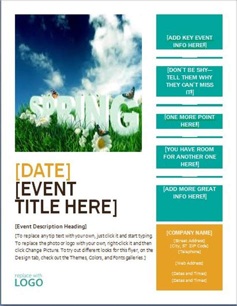 Microsoft Word Flyer Templates by Ms Word Seasonal Event Flyer Templates Word Excel