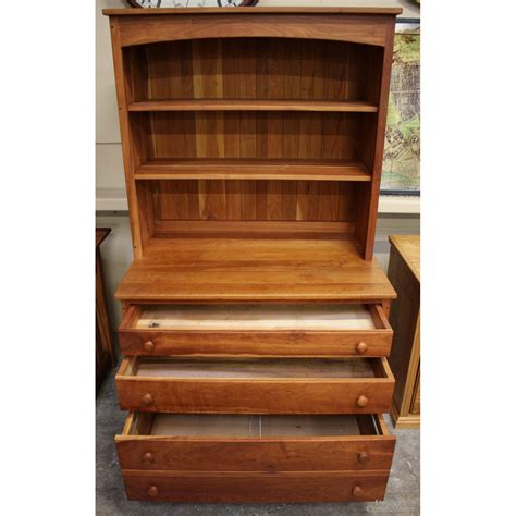 amish furniture gallery cherry lateral file  hutch upscale consignment