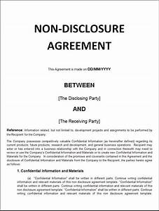 non disclosure agreement computer dessert pinterest With basic nda template