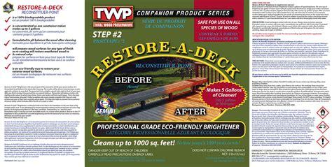 gemini restore  deck kit twpstaincom