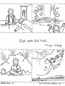 Elijah And The Widow Woman Coloring Pages