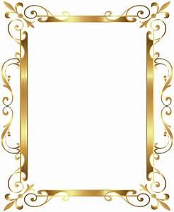 Gold Border Frame Deco Transparent Clip Art Image ...