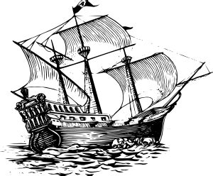 How To Draw A Tudor Boat by Galleon Sail Ship Clip At Clker Vector Clip
